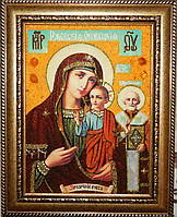 Иконы из янтаря. Оковецкая (Ржевская) икона Божьей Матери