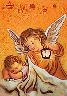 Картина из янтаря Ангелочки