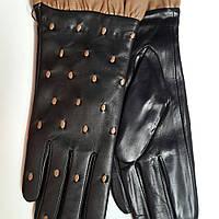 Женские кожаные перчатки Moschino