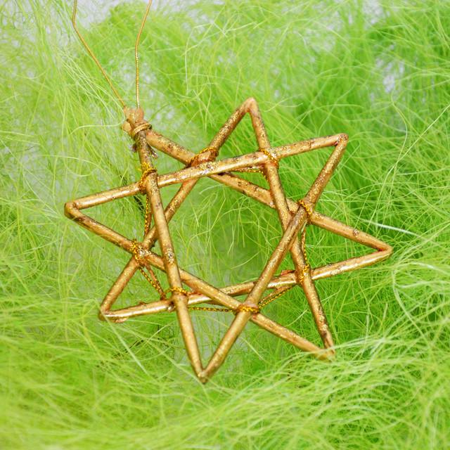 Золотая звезда - новогодний декор