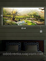 Светящаяся картина (ночник), 29х69см, Японский сад, Киев