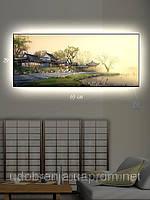 Светящаяся картина (ночник), 29х69см, Поселение в Японии, Киев