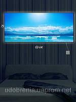 Светящаяся картина (ночник), 29х69см, Облака над морем, Киев