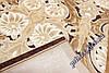 """Акриловый овальный ковер с рельефным рисунком Айс """"Султанат"""", цвет коричневый, фото 3"""