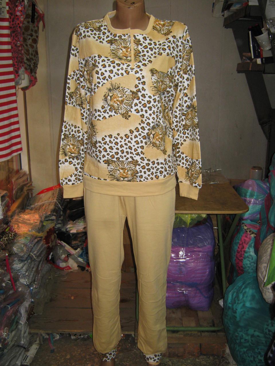 Пижама женская Blue Night с начесом Леопард Полубатал  продажа 02f518de17925