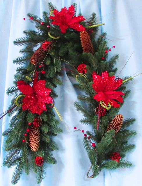 Декорированная гирлянда Рождественское Чудо