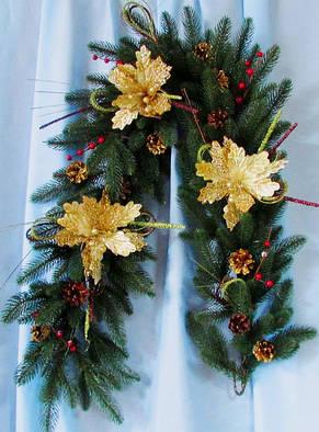 Декорированная гирлянда Рождественское Чудо, фото 2