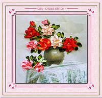 """Набор для вышивания лентами """"Язык цветов"""" RIBBON EMBROIDERY"""
