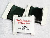 Нитки для вышивания бисером Ariadna Tytan 100 (Цвет: Черный) 10шт./уп.