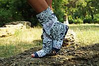 Стильные джинсовые сапожки с открытым носком. Арт-0568