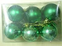 Елочные игрушки шарики, 6шт 5см  , фото 1