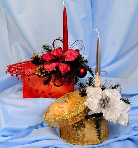 Новогодний подсвечник в шкатулке, фото 2