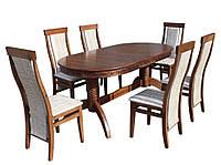 Комплект стол и стул Альфа (Лак орех)