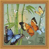 Набор для вышивания крестом «Бабочки» (1336), Риолис