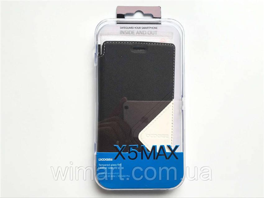 Чехол для Doogee X5 MAX/Doogee X5 MAX Pro + защитное стекло. Оригинал. Черный.