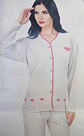 Пижама интерлок-ангора с длинным рукавом,доставка по Украине