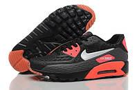 Кроссовки мужские Nike Air Max 90 Ultra BR (найк аир макс 90 ультра) красно-черные