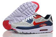 Кроссовки мужские Nike Air Max 90 Ultra BR (найк аир макс 90 ультра) белые