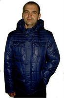 Оригинальная мужская демисезонная куртка синего цвета