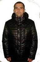 Модная мужская зимняя куртка черного цвета