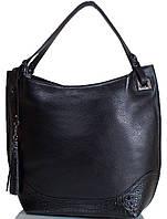 Стильная женская сумка из натуральной кожи DESISAN (ДЕСИСАН) SHI2893-011-2FL черный
