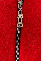 Женское красное демисезонное пальто арт. Милтон букле 6728, фото 3