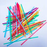 Трубочки цветные с коленом (200 шт/уп), фото 1