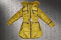 """Зимняя куртка  на девочку """"Тесьма"""" оптом и в розницу"""