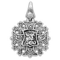 Крест серебряный Спас с мечом. Вмч. Георгий Победоносец 264