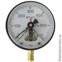 Вакуумметр электроконтактный МТ-4С-В, -100...0 кПа, 1,5, фото 1