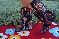 Женские стильные тканевые сапожки человечки. Арт-0585