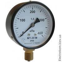 Вакуумметр показывающий МТ-3У-В, -100...0 кПа, 1,5