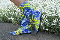 Женские стильные коттоновые яркие сапожки. Арт-0587