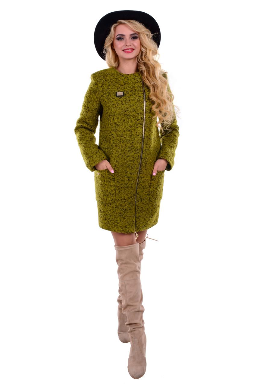 Качественное женское осеннее пальто арт. Милтон букле 6734