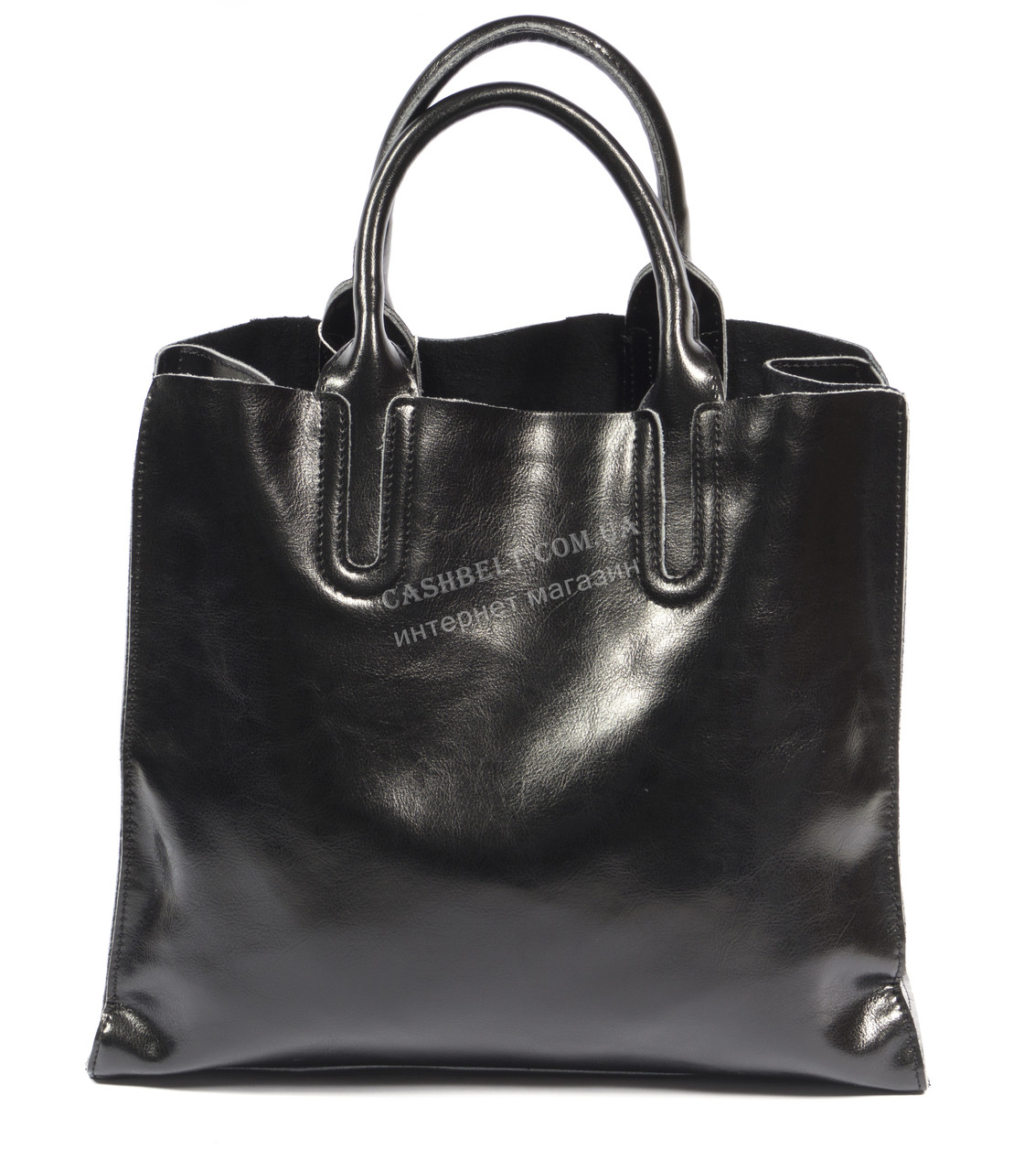 Стильная средняя женская сумка черного цвета с натуральной масляной кожи SOLANA art. 1205 черная