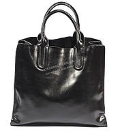 Стильная средняя женская сумка черного цвета с натуральной масляной кожи SOLANA art. 1205 черная, фото 1