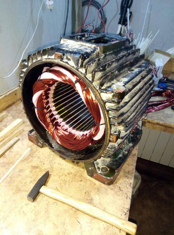 Перемотка электродвигателя 22 кВт