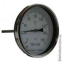 Термометр биметаллический ТБУ-100 осевой, -35...+60 С, 50 мм