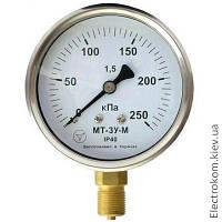 Мановакуумметр виброустойчивый МТ-3Ву, -100...60 кПа, 1,5