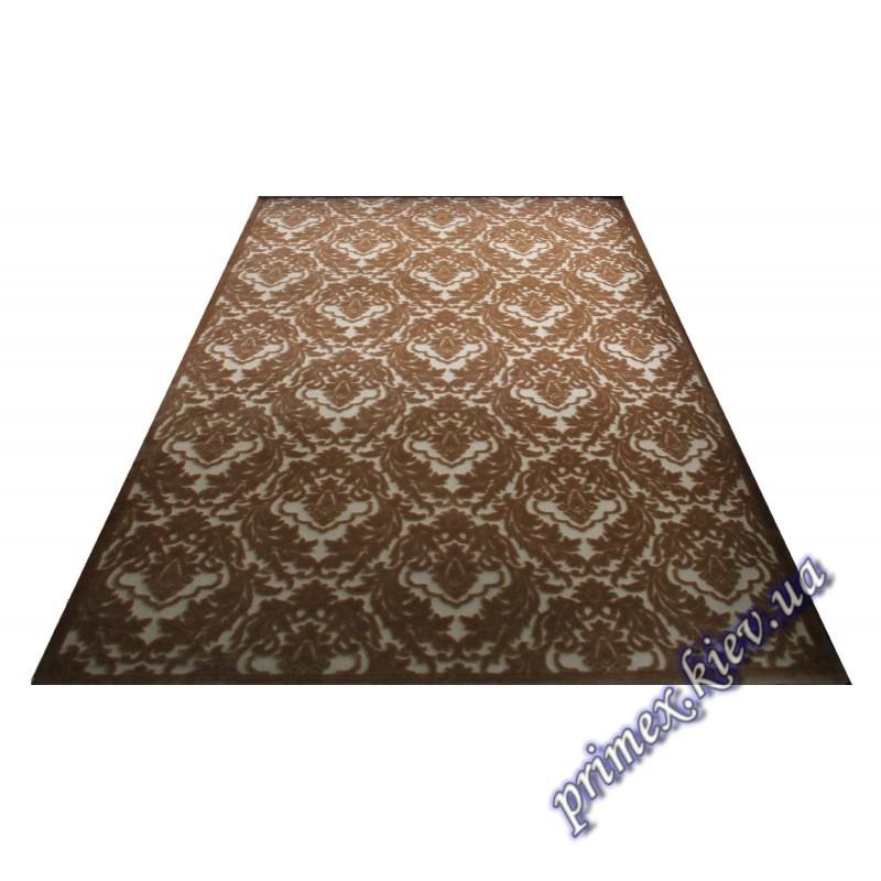 """Акриловый ковер с рельефным рисунком Экзотик """"Орнамент"""", цвет коричневый"""