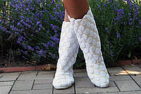 Женские белые полусапожки ажурные на подкладке. Арт-0595, фото 1