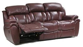 Кожаный диван реклайнер Boston, диван реклайнер, мягкий диван, мебель из кожи, диван, раскладной диван
