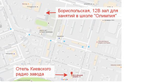 Отель Киевского радио завода на карте Киева