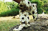 Женские тканевые цветные полусапожки Ромашки. Арт-0596
