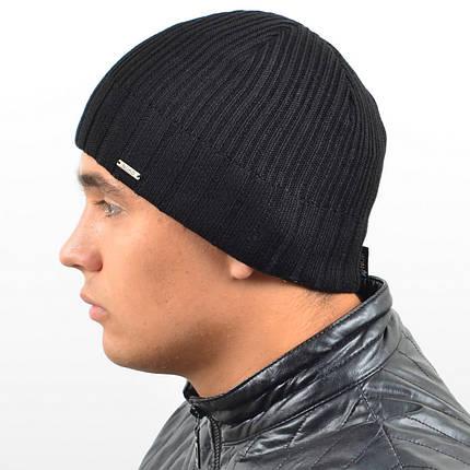 Мужская вязанная шапка NORD Черный, фото 2