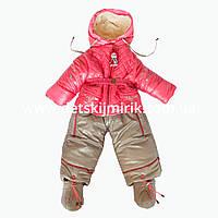 Зимний комбинезон-трансформер Куколка для новорожденных, многофункциональный 4 в 1, зима-весна-осень, фото 1