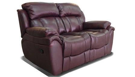 Шкіряний диван реклайнер Boston, диван реклайнер, м'який диван, меблі з шкіри, диван, розкладний диван, фото 2