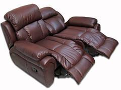 Кожаный диван реклайнер Boston