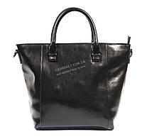 Стильная кожаная небольшая женская сумка черного цвета art. 013, фото 1