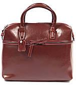 Стильная кожаная удобная женская сумка бордового цвета art. 903